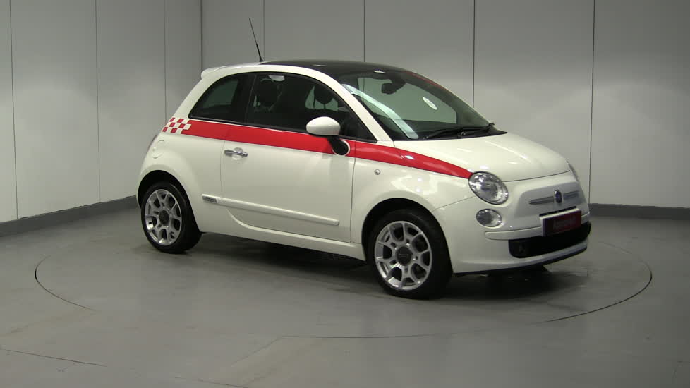 fiat 500 sport dualogic 3 door hatchback petrol in white 2010. Black Bedroom Furniture Sets. Home Design Ideas