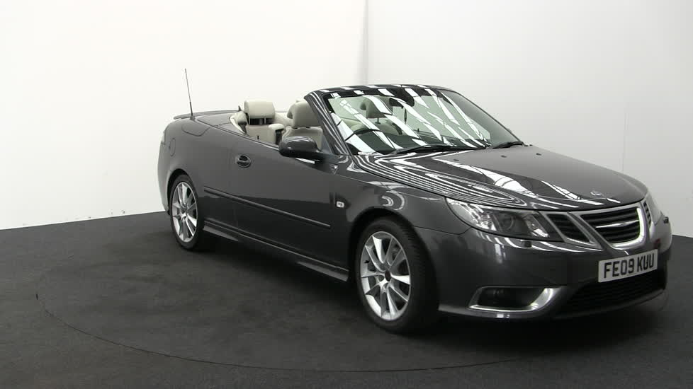 saab 9-3 aero t convertible  petrol  in grey  2009