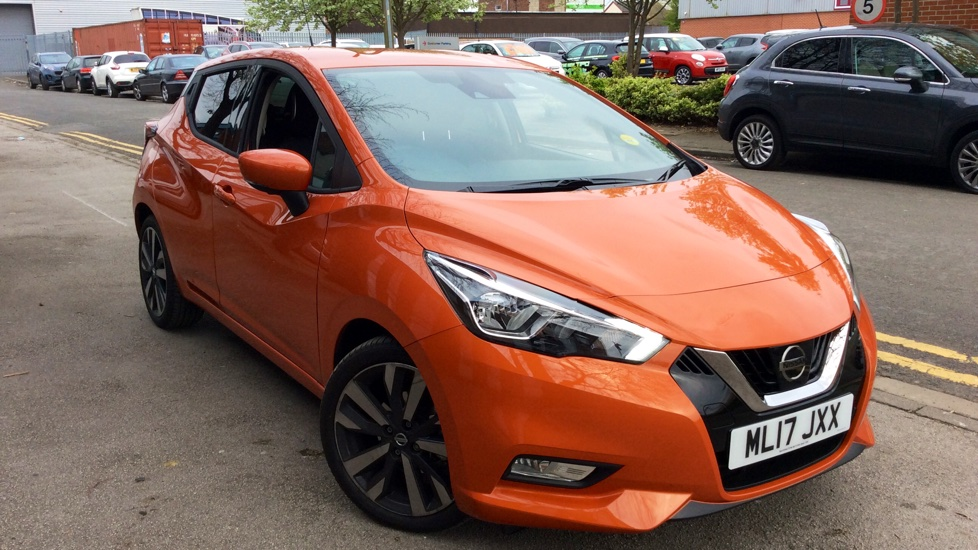 nissan new micra 1 5 dci tekna 5dr diesel hatchback 2017 ml17jxx in stock used nissan. Black Bedroom Furniture Sets. Home Design Ideas