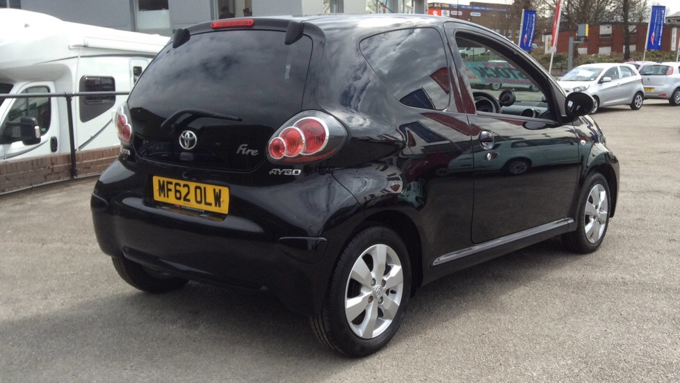 TOYOTA AYGO VVT I FIRE AC 3 DOOR HATCHBACK, PETROL, In BLACK,