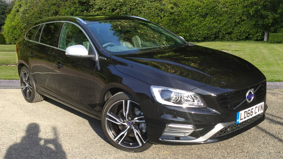 Volvo V60 D6 AWD Twin Engine 300hp R DESIGN Lux Nav Auto with Driver Support Pk & Electric Sunroof 2.4 Diesel/Electric Automatic 5 door Estate (2017) image
