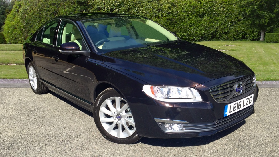 Volvo S80 D4 181hp Euro 6 SE Lux Nav Auto with Winter Pk, Electric Sunroof, Front and Rear Park Assist 2.0 Diesel Automatic 4 door Saloon (2016)