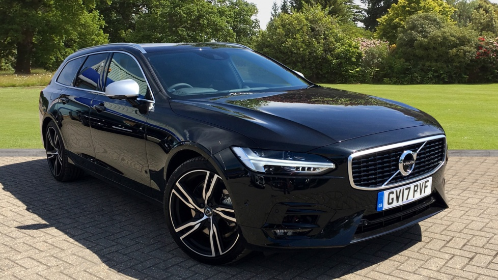 Volvo V90 2.0 D5 AWD Euro 6 PowerPulse R DESIGN Auto with Xenium Pk, Air Suspension, & Bower and Wilkins Audio Diesel Automatic 5 door Estate (2017) image